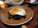 Sauteed spring greens and egg.