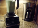 Vitamix and coffeemaker