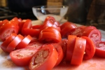Sliced Roma tomatoes