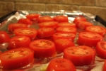 tomatoes on cookie sheet