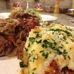 Meatloaf and Spaghetti Squash Gratin.