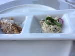 Amuse-bouche risotto and crab