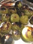 Broiling tomatillos