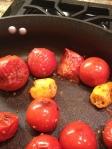 Heating tomatoes and habaneros