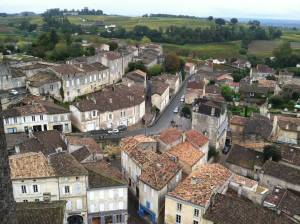 View from Saint-Émilion church tower.