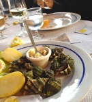 Sea escargot with side of potatoes.