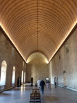 The grand dining room at the Palais des Papes.