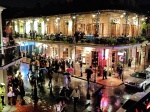 Rainy Halloween on Bourbon Street.
