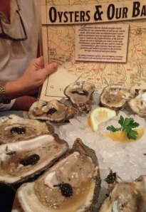 Oysters and caviar at Bourbon House.