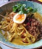 Burmese coconut noodles.