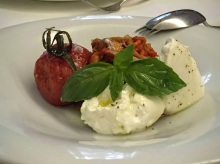 Burrata with tomato confit