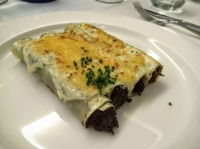Veal cheek cannelloni