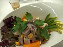 Salad of corvina ceviche